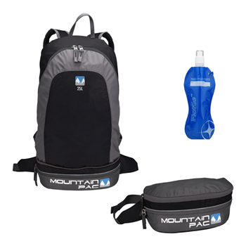 Mountain Pac Backpack 2 in 1 Rock-Black