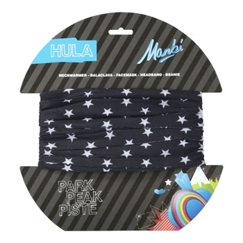Manbi Hula Pattern Small Stars Black