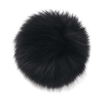 Manbi Real Fur Bobble Black