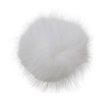 Manbi Real Fur Bobble Winter White