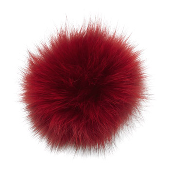 Manbi Real Fur Bobble Red