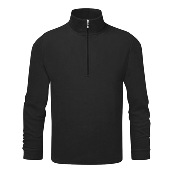 Manbi Mens Microfleece Zip Black*