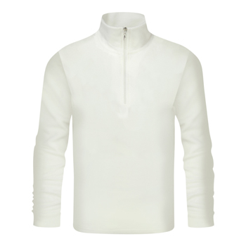 Manbi Mens Microfleece Zip Winter White