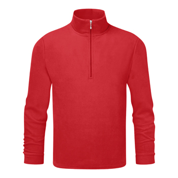 Manbi Mens Microfleece Zip True Red*