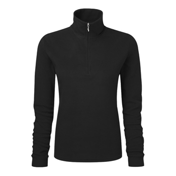 Manbi Ladies Microfleece Zip Black
