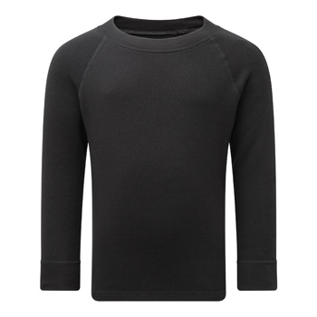 Manbi Kids Soft Tec Thermal Top Black