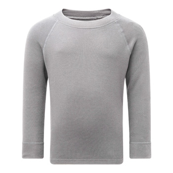 Manbi Kids Soft Tec Thermal Top Grey