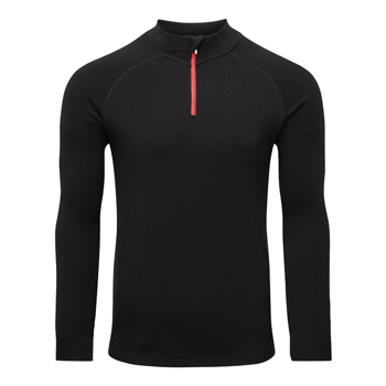 Manbi Mens Soft-Tec Half Zip Thermal Top Black/Red