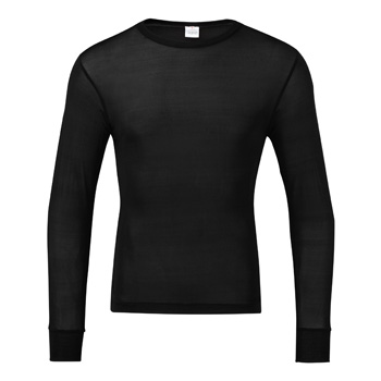 Manbi Mens Silk Thermal Top Black