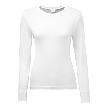 Manbi Ladies Silk Thermal Top White