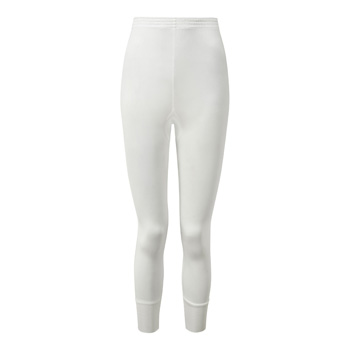 Manbi Ladies Silk Thermal Long John White