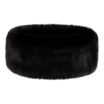 Manbi Faux Fur Headband Chinchilla Black