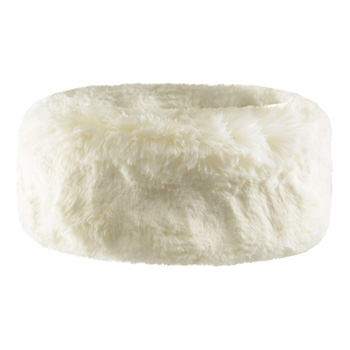 Manbi Faux Fur Headband Chinchilla Cream