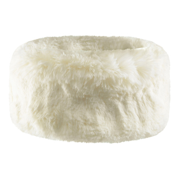 Manbi Wide Faux Fur Headband Chinchilla Cream