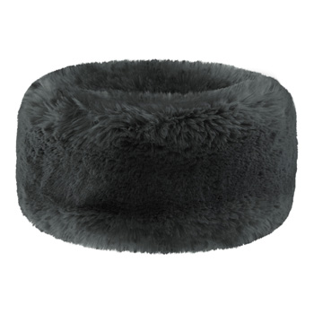 Manbi Wide Faux Fur Headband Chinchilla Grey