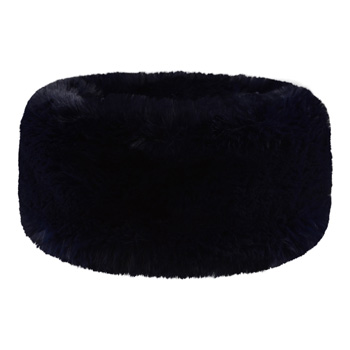 Manbi Wide Faux Fur Headband Chinchilla Midnight