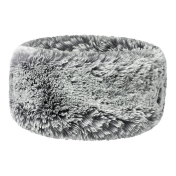 Manbi Wide Faux Fur Headband Chinchilla Silver