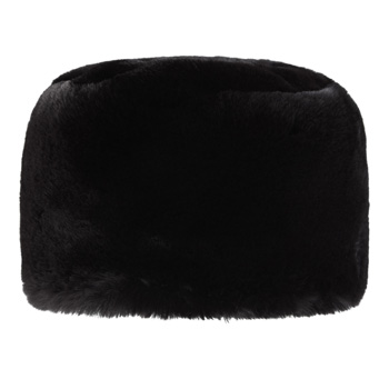 Manbi Full Faux Fur Cossack Hat Chinchilla Black