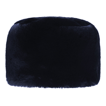 Manbi Full Faux Fur Cossack Hat Chinchilla Midnight