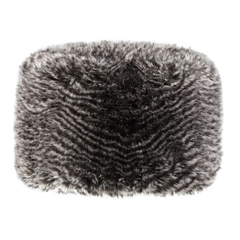 Manbi Full Faux Fur Cossack Hat Grey Rabbit