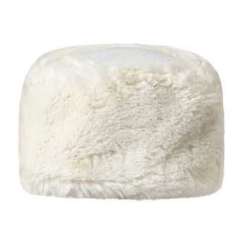 Manbi Fleece Top Faux Fur Cossack Hat Chinchilla Cream