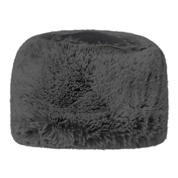Manbi Fleece Top Faux Fur Cossack Hat Chinchilla Grey