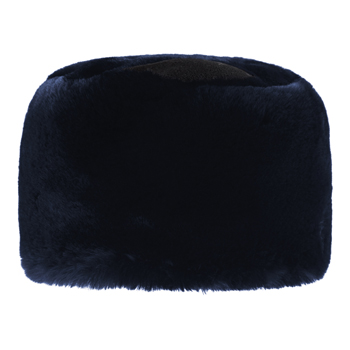 Manbi Fleece Top Faux Fur Cossack Hat Chinchilla Midnight