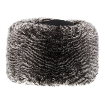 Manbi Fleece Top Faux Fur Cossack Hat Grey Rabbit